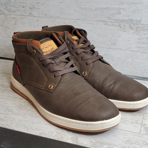 Levi's Men High Top Boots Shoe Brown Sneakers 13